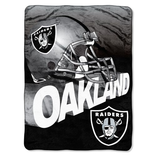 The Northwest Company Oakland Raiders Bevel Micro Raschel Throw