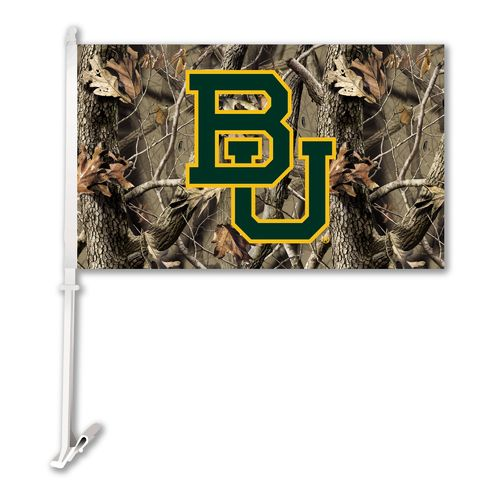 BSI Baylor University Realtree 2-Sided Car Flag