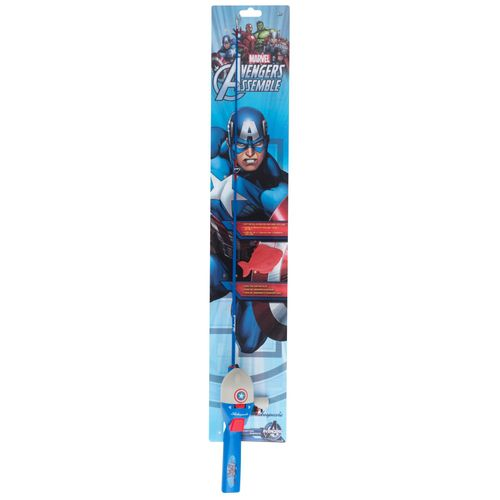 "Shakespeare® Marvel Captain America 2'6"" M Spincast Rod and Reel Combo"