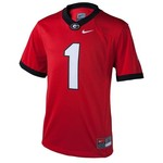 Nike™ Boys' University of Georgia #1 Replica Football Jersey