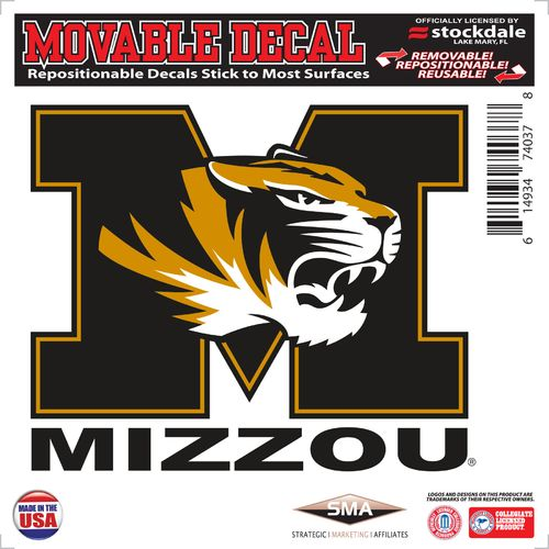Stockdale University of Missouri 6' x 6' Decal