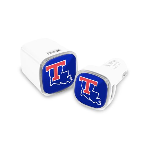 Mizco Louisiana Tech University USB Chargers 2-Pack