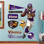 Fathead Minnesota Vikings Adrian Peterson Home Real Big Wall Decal