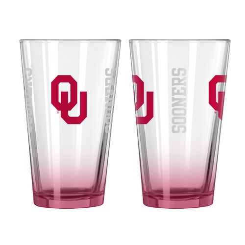 Boelter Brands University of Oklahoma Game Day 16 oz. Pint Glasses 2-Pack