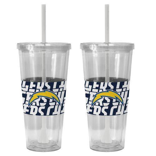 Boelter Brands San Diego Chargers Bold Neo Sleeve 22 oz. Straw Tumblers 2-Pack