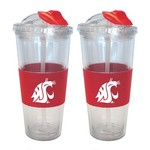 Boelter Brands Washington State University 22 oz. No-Spill Straw Tumblers 2-Pack - view number 1