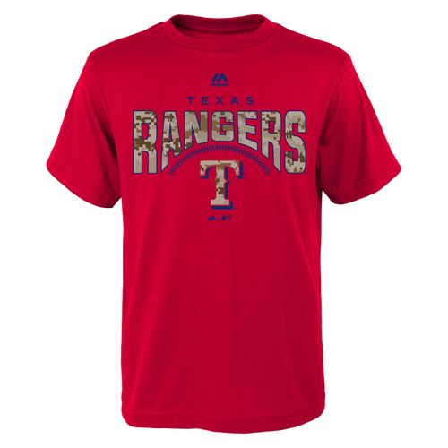 Majestic Boys' Texas Rangers Digi Camo Short Sleeve