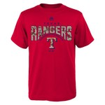 Majestic Boys' Texas Rangers Digi Camo Short Sleeve T-shirt