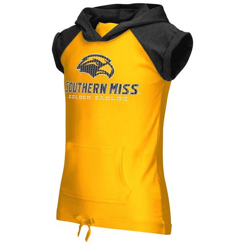 Colosseum Athletics Girls' University of Southern Mississippi Jewel Short Sleeve Hoodie