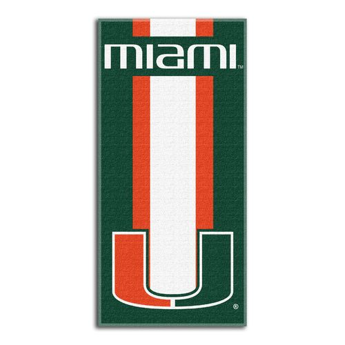 The Northwest Company University of Miami Zone Read Beach Towel