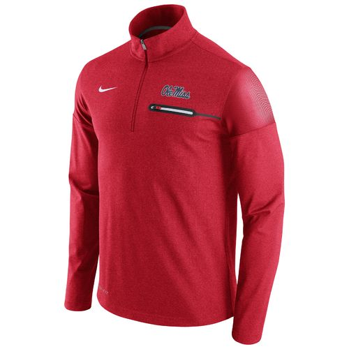 Nike™ Men's University of Mississippi Coaches 1/2 Zip Jacket