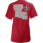 Three Squared Juniors' University of Louisiana at Lafayette State Monogram Anchor T-shirt