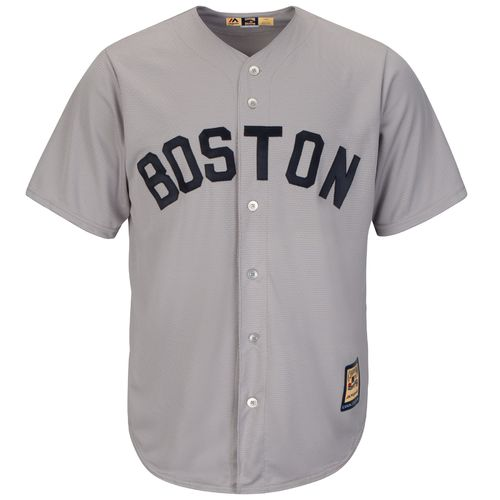 Majestic Men's Boston Red Sox Dustin Pedroia #15 Cooperstown Replica Jersey - view number 2