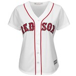 Majestic Women's Boston Red Sox Dustin Pedroia #15 Cool Base Replica Home Jersey - view number 2