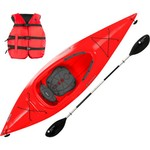"Perception Conduit 9'6"" Sit-Inside Kayak and Paddle Set"