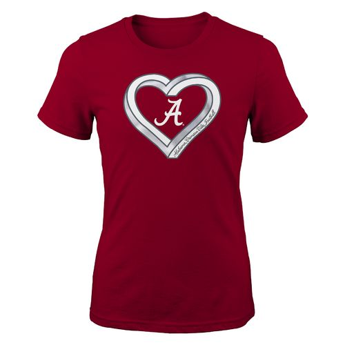 Gen2 Girls' University of Alabama Infinite Heart Fashion Fit T-shirt - view number 1