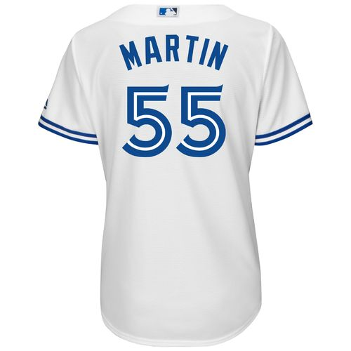 Majestic Women's Toronto Blue Jays Russell Martin #55 Cool Base Replica Jersey - view number 1