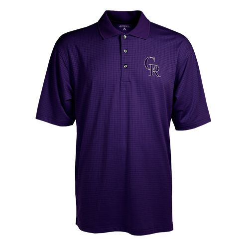 Antigua Men's Colorado Rockies Phoenix Pointelle Polo Shirt
