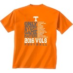New World Graphics Men's University of Tennessee Schedule T-shirt