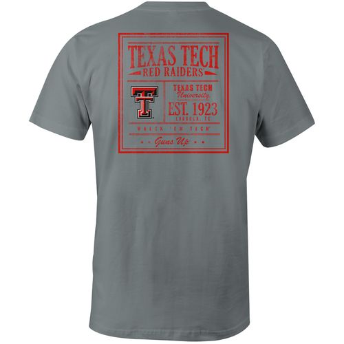 Image One Men's Texas Tech University Comfort Color Vintage Poster Short Sleeve T-shirt