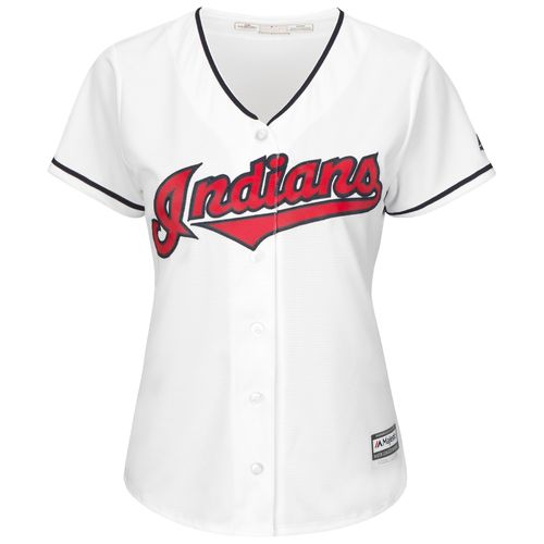 Majestic Women's Cleveland Indians Corey Kluber #28 Authentic Cool Base Home Jersey - view number 3