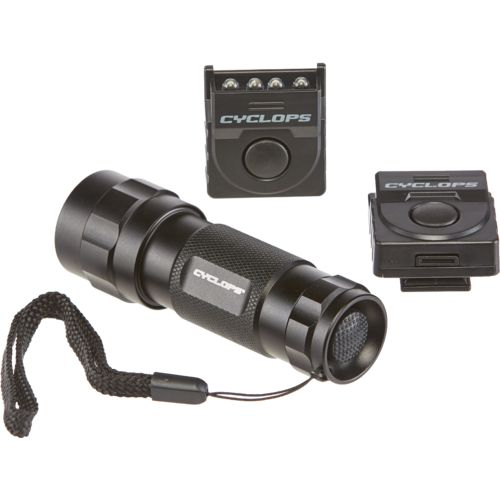 Cyclops 14 LED Flashlight with 2 Hat Clip Lights