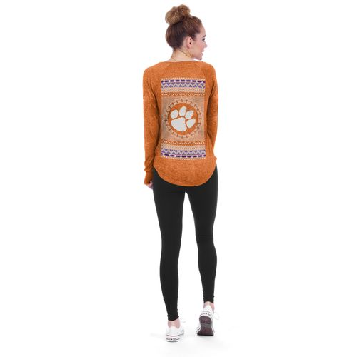 Chicka-d Women's Clemson University Favorite V-neck Long Sleeve T-shirt