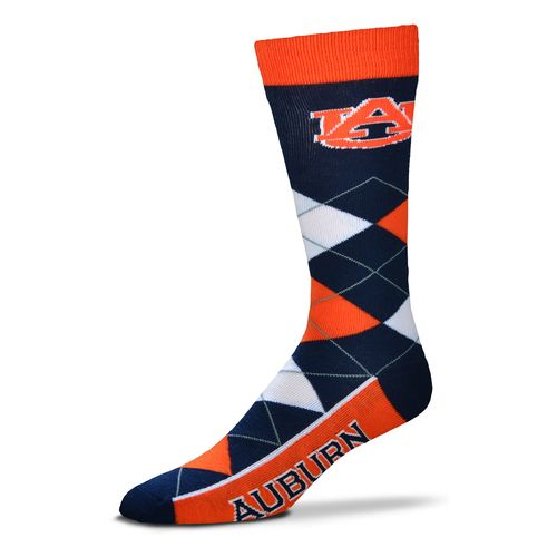 For Bare Feet Unisex Auburn University Team Pride Flag Top Dress Socks