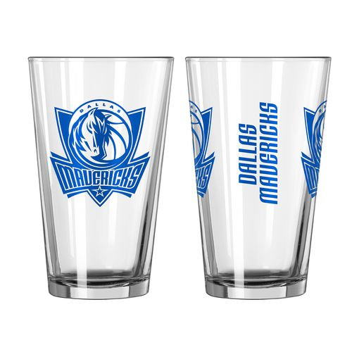 Boelter Brands Dallas Mavericks Game Day 16 oz. Pint Glasses 2-Pack