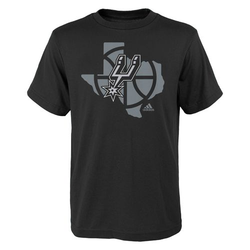 adidas Boys' San Antonio Spurs State Outline T-shirt