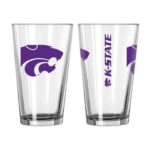 Boelter Brands Kansas State University Game Day 16 oz. Pint Glasses 2-Pack