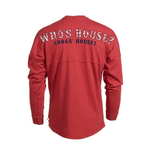 Venley Women's University of Houston Whose House Long Sleeve T-shirt