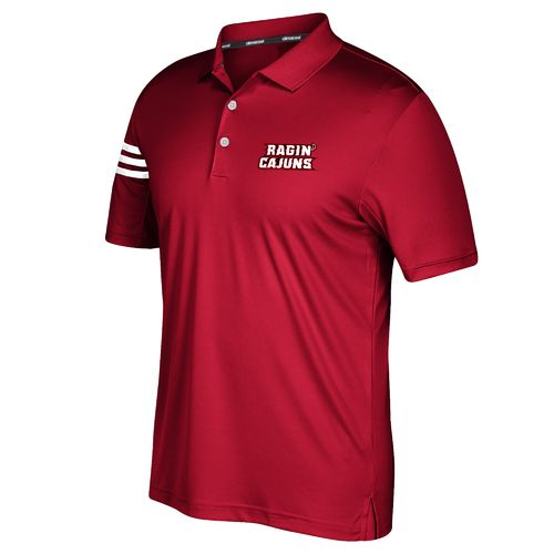 adidas Men's University of Louisiana at Lafayette 3-Stripe Polo Shirt