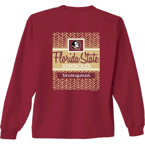 New World Graphics Women's Florida State University Herringbone Long Sleeve T-shirt
