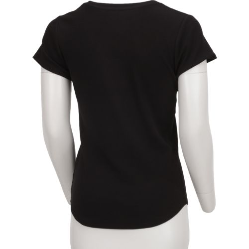 BCG Women's Horizon Short Sleeve V-neck Solid Heather Top - view number 2
