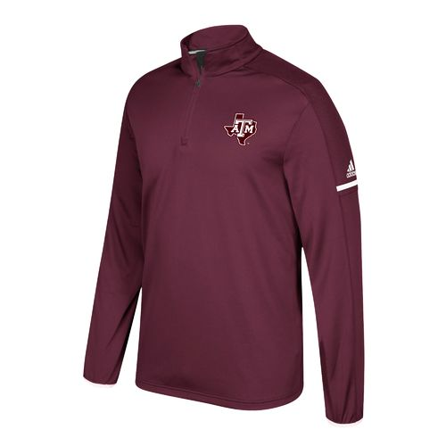 adidas Men's Texas A&M University Sideline 1/4 Zip Pullover