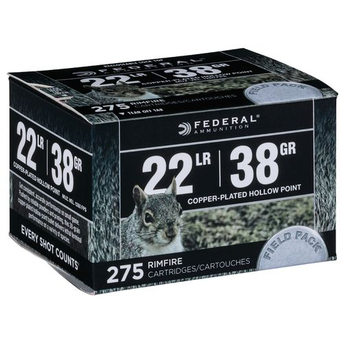 Federal Premium Range and Field .22 LR 38-Grain Rimfire Rifle Ammunition