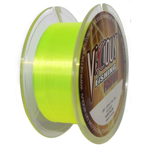 vicious 330 yds hi vis panfish fishing line academy