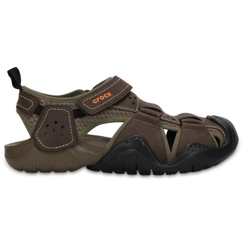 Display product reviews for Crocs Men's Swiftwater Leather Fisherman Sandals