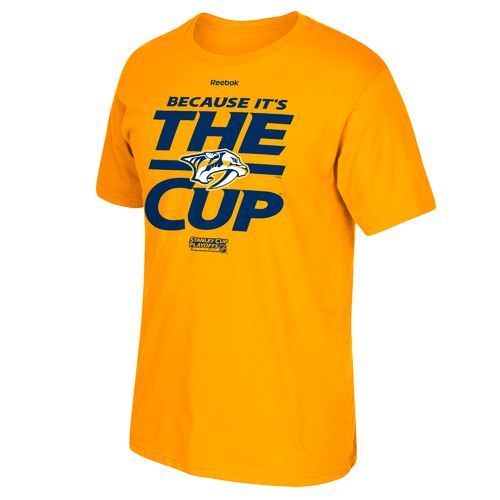 Reebok Men's Nashville Predators 2017 Because It's The Cup T-shirt