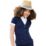 French Toast Toddler Girls' Short Sleeve Cardigan and Blouse 2-fer Uniform Top - view number 4