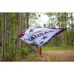 Twisted Root Design Twisted Print Arkansas Wood Flag Hammock - view number 7