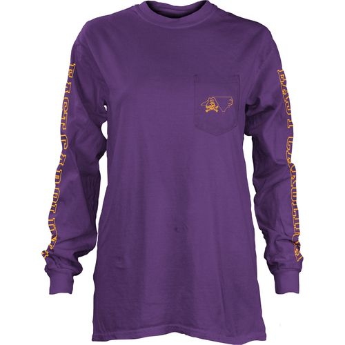 Three Squared Juniors' East Carolina University Mystic Long Sleeve T-shirt