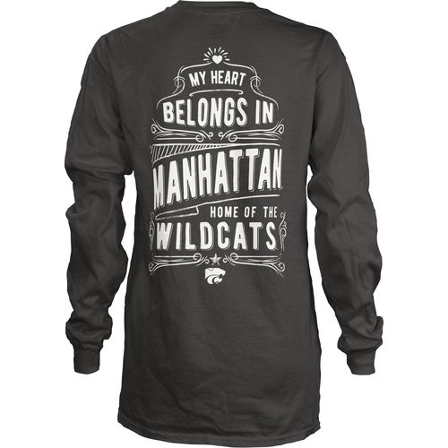 Three Squared Juniors' Kansas State University Tower Long Sleeve T-shirt