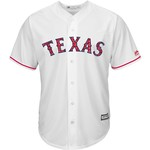 Majestic Men's Texas Rangers Cole Hamels Stars and Stripes COOL BASE Jersey - view number 2