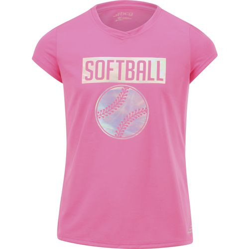 BCG Girls' Iridescent Softball Short Sleeve T-shirt