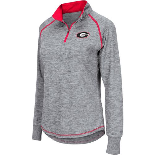Colosseum Athletics Women's University of Georgia Bikram 1/4 Zip Long Sleeve T-shirt