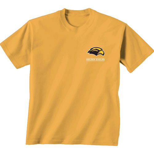 New World Graphics Women's University of Southern Mississippi Comfort Color Puff Arch T-shirt - view number 2