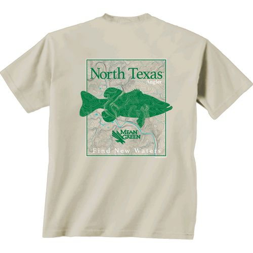 New World Graphics Men's University of North Texas Angler Topo Short Sleeve T-shirt