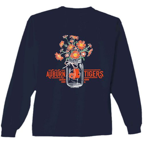 New World Graphics Women's Auburn University Bouquet Long Sleeve T-shirt